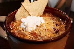 Crock pot Tortilla Soup.