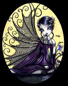 - Photos - Fantasy, Fairies and Mermaids 2 Gothic Fantasy Art, Gothic Fairy, Dark Fantasy, Fantasy Fairies, Dark Fairies, Elves Fantasy, Fantasy Dolls, Round Robin, Angel Drawing