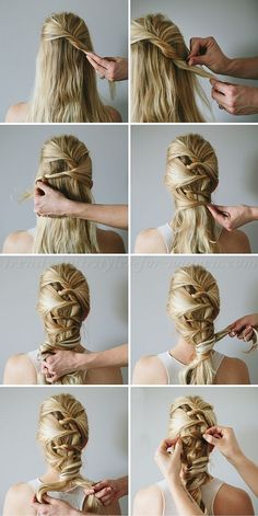 twisted hairstyle step by step
