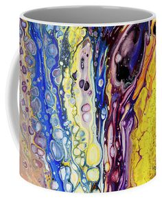 Iridescent Reality Fragment Fluid Acrylic Painting Coffee Mug by Jenny Rainbow. Mugs For Sale, Fluid Acrylics, Fine Art Photography, Iridescent, Coffee Mugs, Rainbow, Invitations, Artwork, Artist
