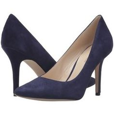 For Kate's many navy suede pumps