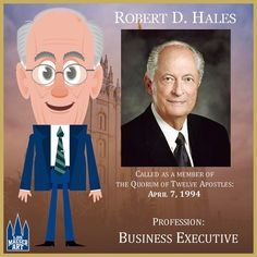 Elder Robert D. Hales was sustained as a member of the Quorum of the Twelve Apostles of The Church of Jesus Christ of Latter-day Saints on April 2, 1994.  .  .  #ElderHales #ldsconf #lds #mormon #LDS #JesusChrist #Christian #quote #efy #sharegoodness