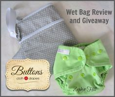 Buttons Diapers Wet Bag Review & Giveaway