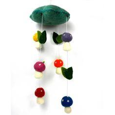 Felt Mushroom Mobile - Fair Trade