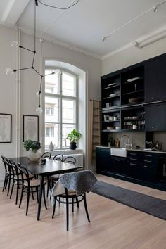 A spectacular Swedish apartment with black accents - Daily Dream Decor