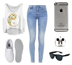 """""""Girl you got me lost in your eyes"""" by mariafe1231 ❤ liked on Polyvore featuring mode, G-Star, Vans et PhunkeeTree"""