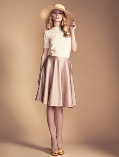 Temperley London, Cruise'12, Classic Knit Cropped Jumper and Vivienne Flared Skirt