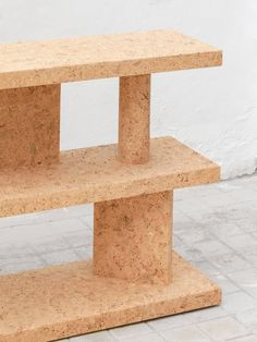 jasper morrison's cork furniture collection at new york's kasmin gallery Fireplace Frame, Wine Bottle Corks, Bottle Candles, Table Design, Morrisons, Minimalist Furniture, Key Design, Design Furniture, Furniture Collection