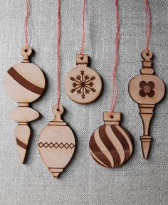 Wood Ornaments - Variety Pack