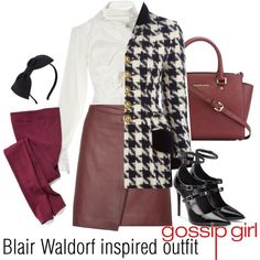Blair Waldorf inspired outfit/GG by tvdsarahmichele on Polyvore featuring mode…