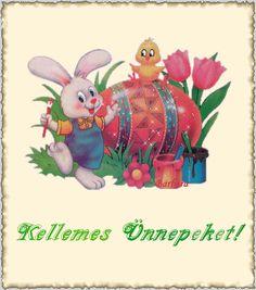 Kellemes ünnepeket! (Húsvétra) képeslapok
