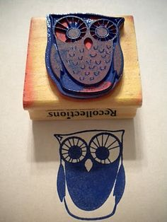 tampon chouette Cuadros Diy, Homemade Stamps, Make Your Own Stamp, Stamp Carving, Felt Owls, Fabric Stamping, Stamp Printing, Zentangle, Cute Owl