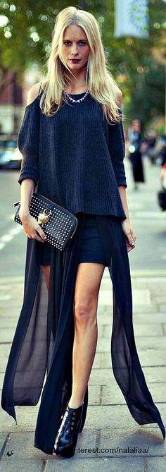 Street style - Poppy Delevingne   Sass & Bide skirt; Zoe Jordan Jumper; D-Squared boots; Burberry Prorsum clutch