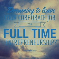 Full Time Entrepreneur Coaching Sessions in Raleigh  http://vendraleigh.com/corporate-job-to-entrepreneur-coaching-sessions-raleigh/