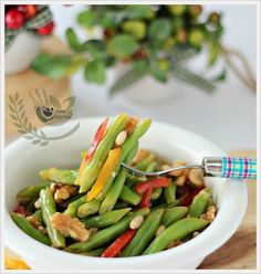 French Beans with Pine nuts and Walnuts |@Ann @ Anncoo Journal