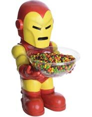 Iron Man Candy Bowl Holder - For all you Iron Man fans that want a fun way to serve your Halloween candy this year, this is for you! Featuring Marvel's Iron Man, this candy bowl will put a smile on your trick-or-treaters faces!