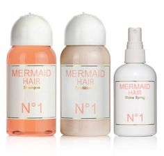 mermaid hair... orange blossom flowers & coconut fragrance... enhances shine, softness, elasticity, luster & tames flyways... not tested on animals - made with love.
