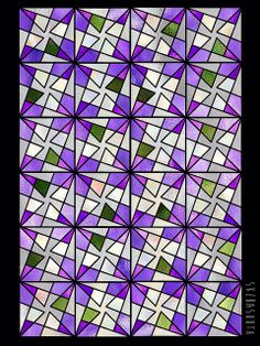 Geometry Of Triangles Violets This Turned Out So Pretty For Spring When Done Up Stained Gl
