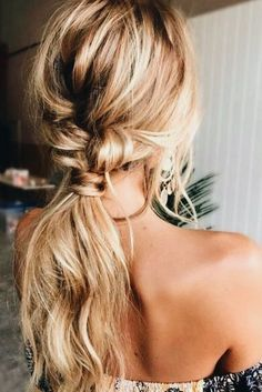 Loose Pony Tail- Hair- Hair Style- Braid Idea