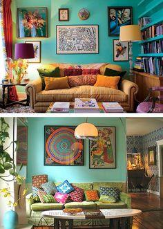 Such a cool bohemian living room Living Room Decor, Living Spaces, Living Rooms, Bedroom Decor, Design Bedroom, Living Area, Deco Cool, Bohemian Living, Bohemian Decor
