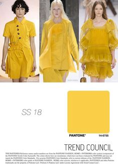 SS18 KEY COLOR | Color trends 2018 #fasion #colors #trends2018 #FashionTrendsForecasting