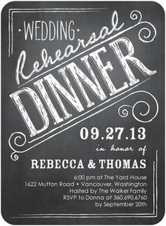 Shutterfly offers rehearsal dinner invitations in beautiful styles and colors. Create wedding rehearsal dinner invitations to celebrate your special day + Save up to Rehearsal Dinner Invitations, Rehearsal Dinners, Bridal Shower Invitations, Wedding Dinner, Wedding Rehearsal, Wedding Tables, Wedding Reception, Save The Date, Christmas Address Labels