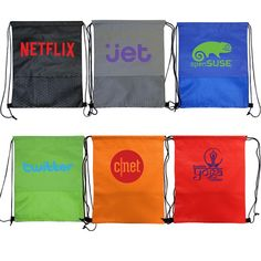 8eb7d56d622c Wave Drawstring Backpack is a great giveaway for all ages! Perfect for  school