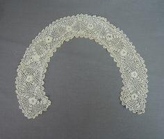 Antique Crochet Collar for Blouse or Dress, 15 inches, Edwardian - Dandelion Vintage