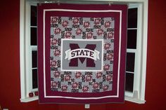 Great setting for a football quilt