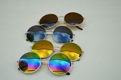 John Lennon Round Unisex Sunglasses In Rainbow main