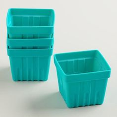 One of my favorite discoveries at WorldMarket.com: Silicone Berry Basket Muffin Baking Cups, 4-Pack