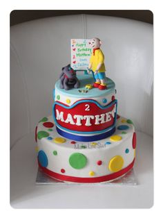 Caillou Cake for my little nephew 3 Cake ideas Pinterest
