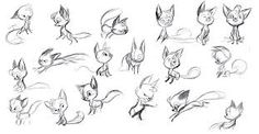 simple wolf cub sketches