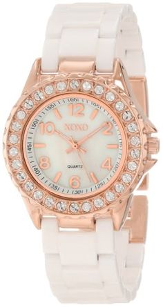 Save $10.01 on XOXO Women`s XO2011 Swarovski Crystal Accented Rosegold-Tone White Ceramic Bracelet Watch; only $39.99 + Free Shipping