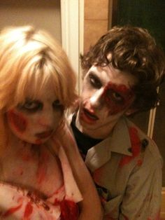 Halloween zombies. Makeup all done by me.