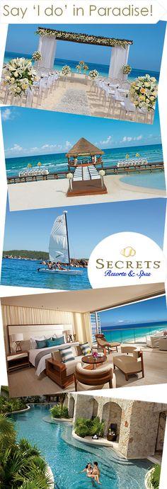 Say 'I do' in paradise at Secrets Resorts & Spas!  I do! I do! #unlimitedromance  http://www.theperfectpalette.com/2013/11/sponsored-post-secrets-resorts-spas.html