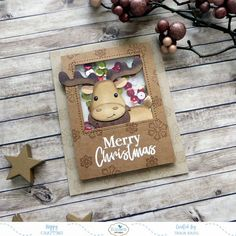 Our Design Team has been busy all month creating some cards that are snippin' fabulous! ✂️😜 Because most of these are posted on their… Marry Christmas Card, Christmas Moose, Rustic Christmas Crafts, Simple Christmas, Mason Jar Cards, Merry Chistmas, Elizabeth Craft Designs, Hallmark Cards, Some Cards