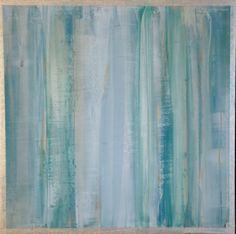 """Waves 2011 Venetian Plaster with acrylics on wood panel. 10"""" x 10"""""""