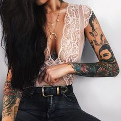 Outfits to show off the tattoos on your arms - Outfits to show off the tattoos on your arms Informations About Outfits para presumir los tatuajes e - Arm Tattoo, Full Tattoo, Piercing Tattoo, Sleeve Tattoos, Spinal Tattoo, Mandala Tattoo, Lion Tattoo, Tattoo Cat, Tattoo Girls