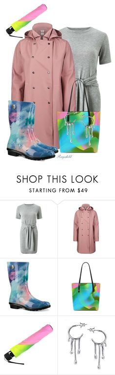 """""""Rainy Day Style with Colorful Umbrella and Bag from #annabellerockz"""" by ragnh-mjos ❤ liked on Polyvore featuring Miss Selfridge, 66North, UGG and Annika Burman"""
