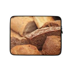 This lightweight, form-fitting Bread 399286 Laptop Sleeve is a must-have for any laptop owner on the go. Hat Embroidery Machine, Laptop Sleeves, Biodegradable Products, Bread, Ethnic Recipes, Desktop Accessories, Laptop Case, Computers, Food