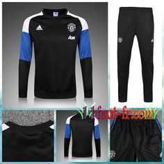 Manchester United Survet Foot 16-17 Homme Noir/Bleu