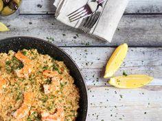 Paella csirkével és garnélával - Városi konyha