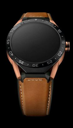 TAG Heuer CONNECTED Luxury Smart Watch (AndroidiPhone) (Brown Leather)