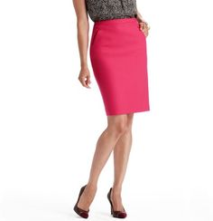 """This skirt is amazing and a must have for fall. Dressing business professional everyday it is easy to get caught up in the mundane black suit, but this skirt gives me the ability to add a pop of color, and still keep my outfit youthful."" - LOFT Girl Catlin,  Petite Seamed Pencil Skirt in LOFT Scuba, $69.50 Style #286778"