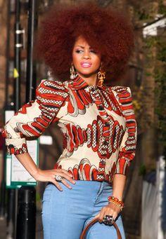 african wax print Handmade Orange Hoopla Wax Shirt £32.00 zanjoo.com ~African fashion, Ankara, kitenge, African women dresses, African prints, African men's fashion, Nigerian style, Ghanaian fashion ~DKK