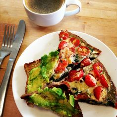 Love a special Sunday Breakfast! Breakfast Frittata with Avocado Toast from @Michelle Bridges & @Michelle Bridges #delicious