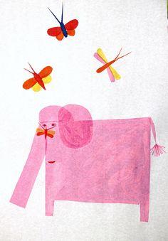 Hazel Terry Pink Tissue Elephant