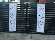 You will get CNC vector file for this design Iron Main Gate Design, House Main Door Design, Grill Gate Design, Front Wall Design, Steel Gate Design, Railing Design, Metal Gate Door, Metal Garden Gates, Gate Designs Modern