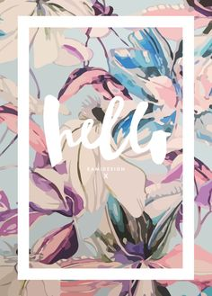 Kami Design poster -Hello Spring // creative art work and typography inspiration Web Design, Layout Design, Design Art, Print Design, Floral Design, Dm Poster, Poster Design, Posters, Grafic Design